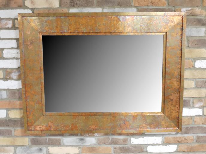 Rectangular Copper Effect Mirror