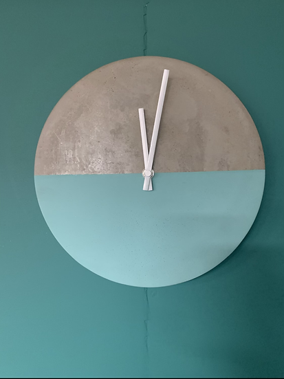 Turqouise Cement Clock