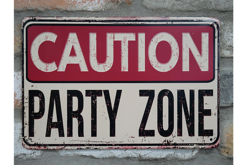Sign - Party Zone