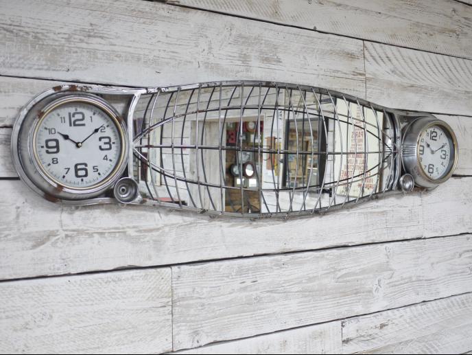 Mirror and 2 Clocks