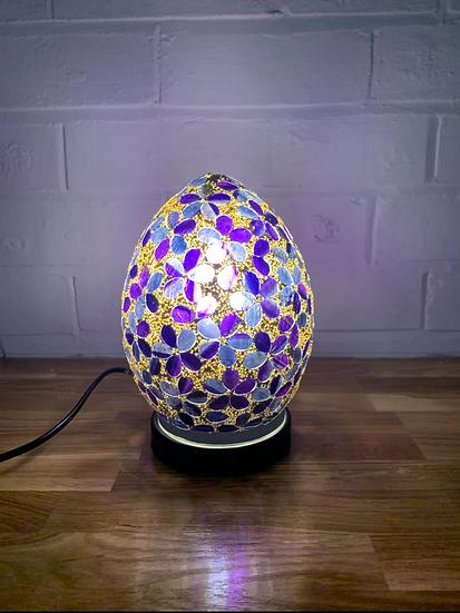 Flower Mosaic Egg Lamp