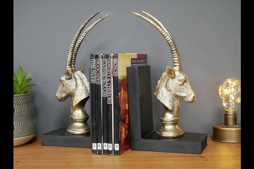 Pair of Antelope Book Ends
