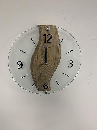 Oak and Glass Clock