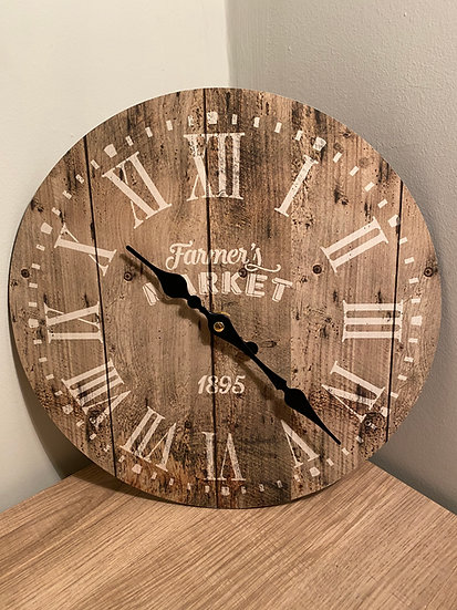 Farmers Market Wall Clock