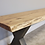 Thumbnail: Living Edge Dining Table with a bench and 4 chairs