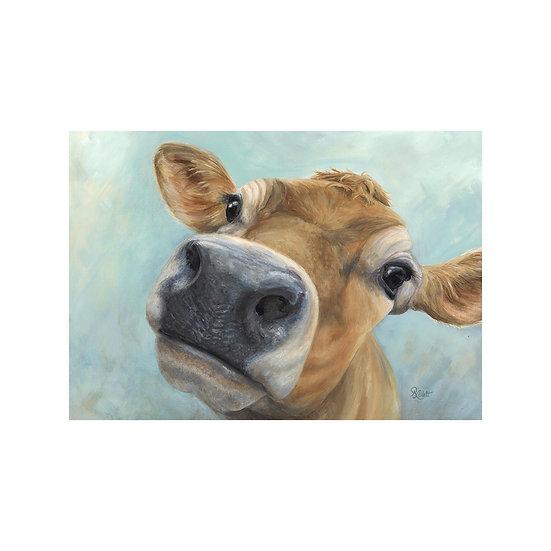 Georgie Cow Canvas