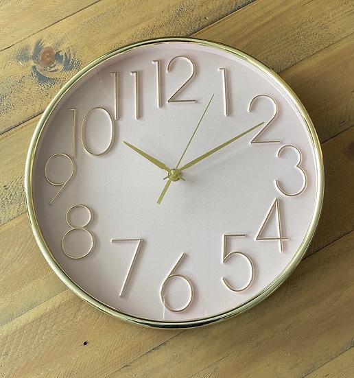 Blush and Gold Wall Clock