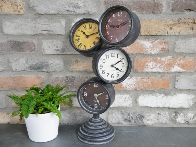 4 Face Clock