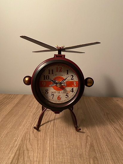 Helicopter Mantel Clock