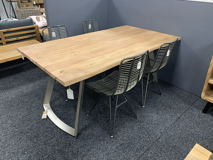 Industrial Live Edge Dining Set