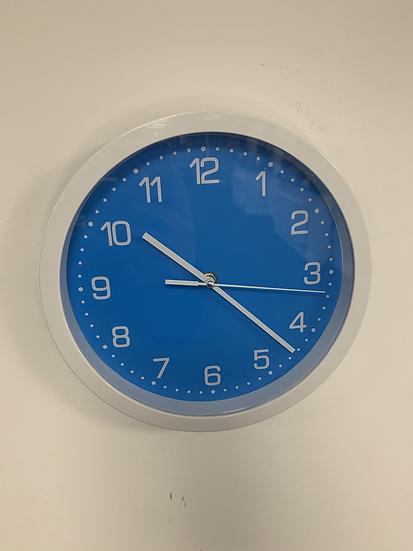 Blue Kids Clock