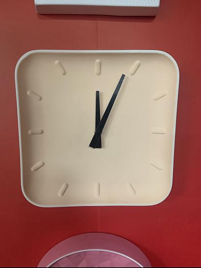Square Cement Clock