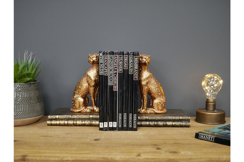 Leopard Book Ends