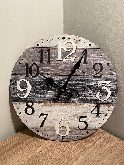 Grey Striped Clock