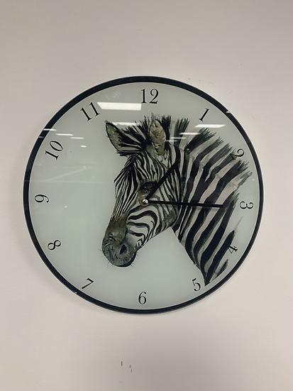 Zebra Clock