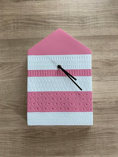 Pink House Clock