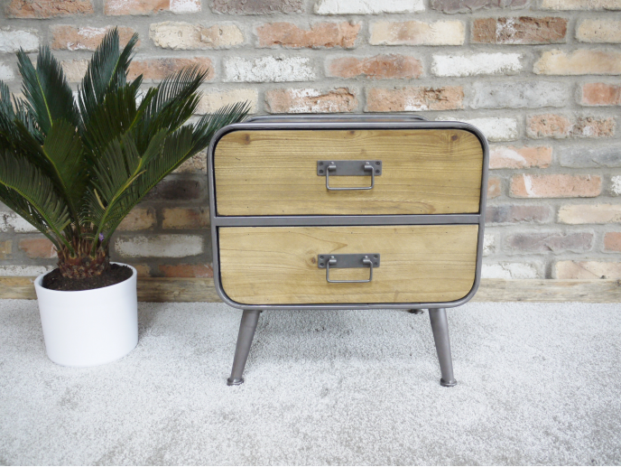 Retro Industrial Small Cabinet