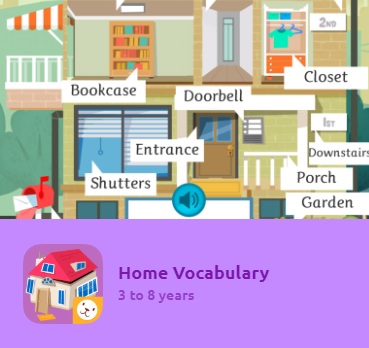 """The game """"Animal Vocabulary"""" features written and oral activities to learn new word clusters. Kids will learn new concepts, like how to name objects around them. The App comes in 3 difficulty levels thought out for different age groups and language competence. An excellent tool to learn new vocabulary in several other languages."""