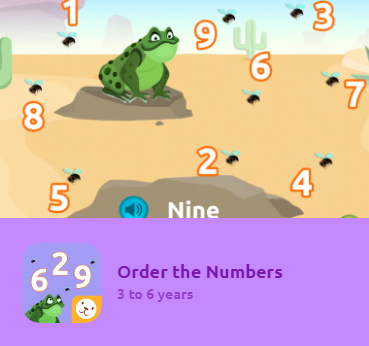 """Order The Numbers""¡ is an application designed for 3-6 year-olds to learn through play, how to order numbers from 1 to 9, from lower to higher and vice versa."