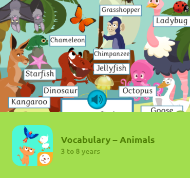 "The game ""Home Vocabulary"" features written and oral activities to learn new word clusters. Kids will learn new concepts, like how to name objects around them. The App comes in 3 difficulty levels thought out for different age groups and language competence. An excellent tool to learn new vocabulary in several other languages."