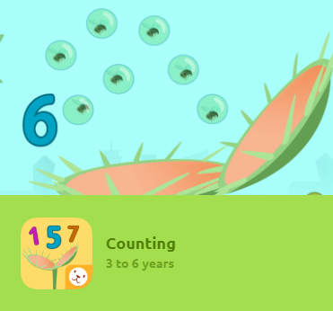 Counting is an application designed for 3-6 year-olds to learn through play how to count numbers from 1 to 9. It includes several different activities and game modes to learn how to count.