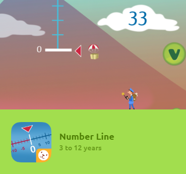 Number Line is an interactive game for kids to learn how to place whole numbers in their correct position. Difficulty levels increase progressively.