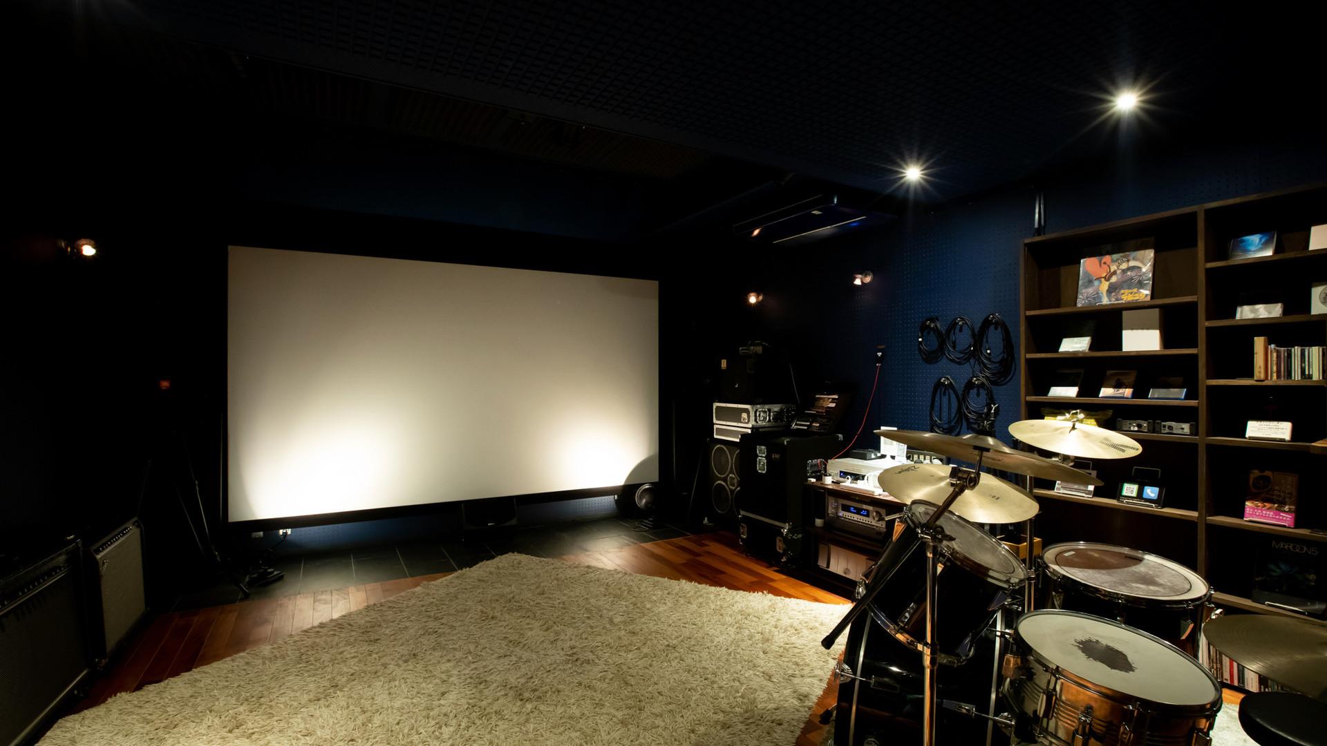 音楽スタジオ/ホームシアター(screen side)