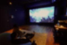 大画面スクリーンのプライベート映画館