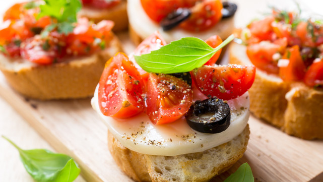 Appetizers for your dinner party