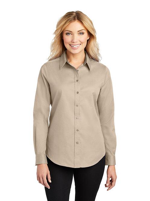 Khaki Long Sleeve Ladies Shirt