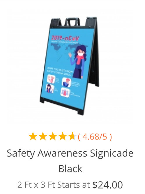 Safety Awareness Signicade Black