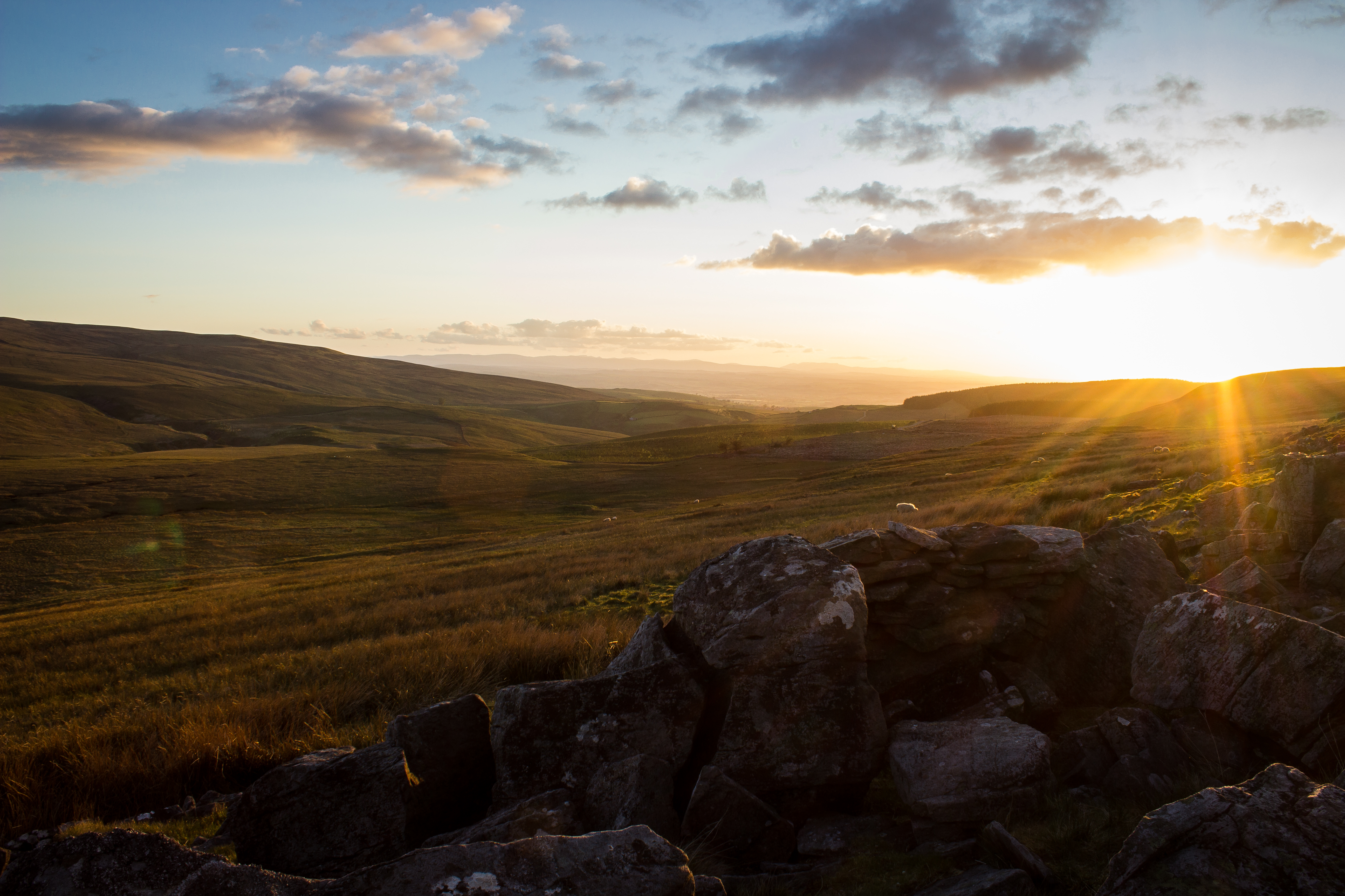Sunset, somewhere in the Dales