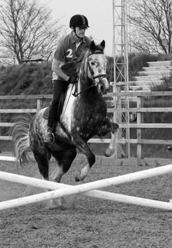 Tim jumping B&W