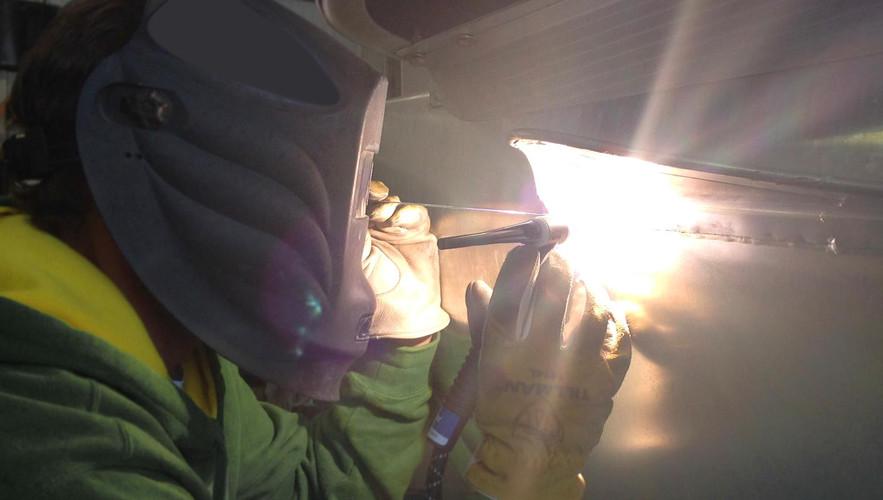 TIG Welding: Pontoon Repair