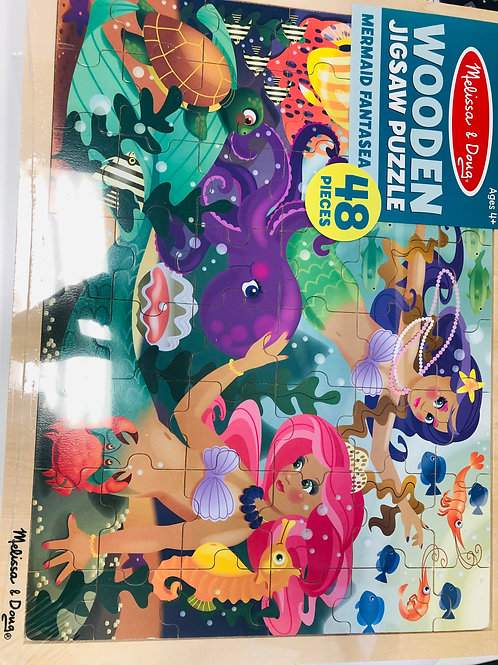 Mermaid Wooden Jigsaw Puzzle - 24 Pieces