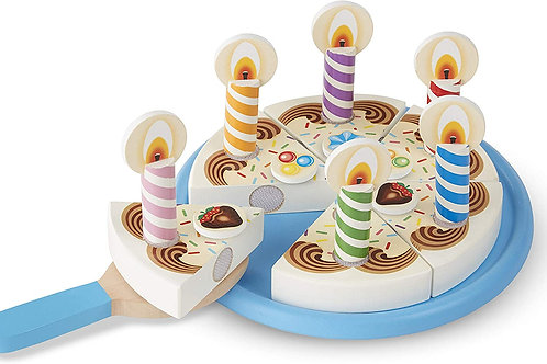 Wooden Birthday Cake Paly Set