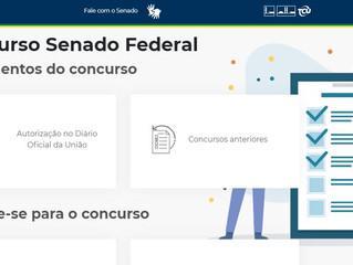 Senado oferece conteúdo gratuito em site sobre o concurso de 2020
