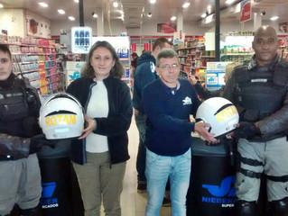 ROTAM recebe doação de novos capacetes