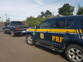PRF apreende S10 que circulava com motor de veículo roubado