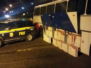 PRF apreende ônibus carregado com mil ventiladores