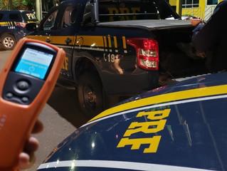 PRF autua mais de 100 motoristas em ação coordenada de combate à embriaguez ao volante