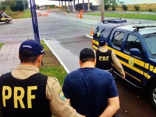 PRF prende foragido na BR-158 em Livramento