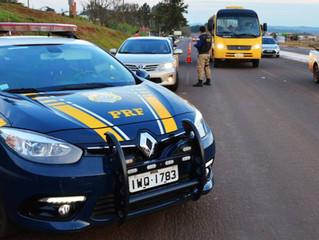 PRF fiscaliza 521 veículos durante operação Ano Novo