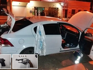 Ocorrências BM: prisão por porte de armas e por tráfico de drogas