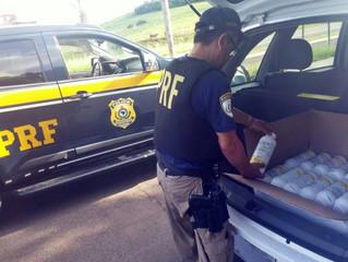 PRF apreende contrabando de agrotóxico em Rosário do Sul