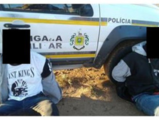 Ocorrências BM: prisão furto; entorpecente tráfico; furto em escola; recuperação veículo