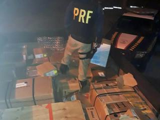 PRF apreende caminhão com mais de R$ 1 milhão em mercadorias descaminhadas