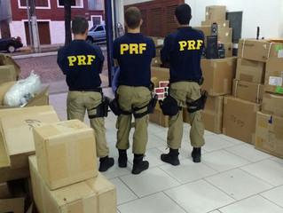 PRF flagra contrabando milionário na BR-153 e realiza apreensões na BR-290