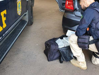 PRF prende mulher com 200 kg de maconha em Sant'Ana do Livramento