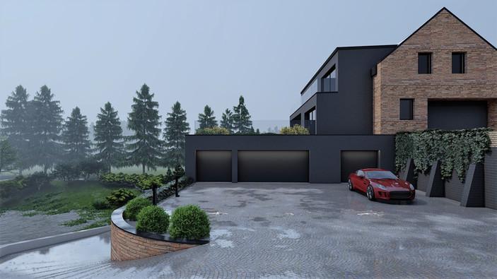 Rozbudowa domu nad stawem